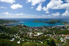 powietrzny wyspy st Thomas usvi widok Fotografia Stock