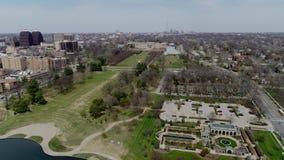 Powietrzny zasięrzutny widok klub poza miastem placu teren w Południowym Kansas City, Missouri zbiory