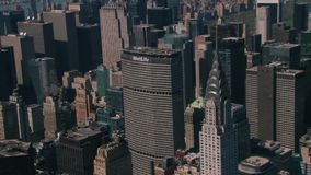 Powietrzny zoom Chrysler budynek zbiory