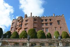 Powis Castle. First built in 1200, and remodelled for over 400 years Royalty Free Stock Photo