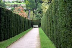 Powis Castle Garden in England Royalty Free Stock Images
