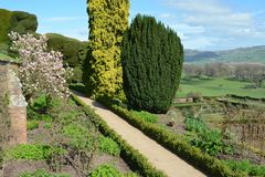 Powis castle garden. And landscape view of Shropshire Stock Photography