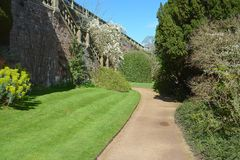 Powis castle garden. In the spring Royalty Free Stock Images