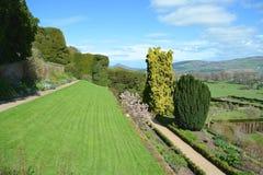Powis castle garden. In the spring Stock Photo