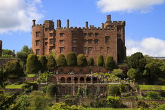 Powis Castle. The terraced gardens of Powis castle stock image