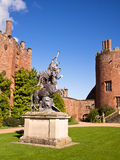 Stately Home and Castle in Wales. The main entrance to the courtyard and stately home of historic Powis Castle on a sunny day. Welshpool, Wales, UK royalty free stock photo