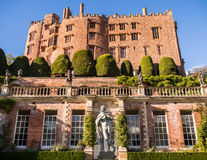 Castle Stately Home in Wales. The italianate terraced gardens and stately home at Powis Castle. Welshpool, Powys, Wales, UK royalty free stock photography