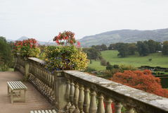 Powis castle in Welshpool, Powys, Wales, England Stock Photos