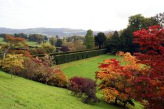 Powis castles garden, welshpool, Wales, England Royalty Free Stock Image