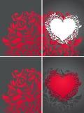 powitań karciani valentines Obrazy Stock