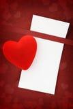 Powitań valentines karta Zdjęcia Royalty Free