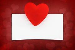 Powitań valentines karta Fotografia Royalty Free