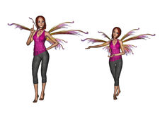 Powitania i pomysłu faery set Obraz Royalty Free