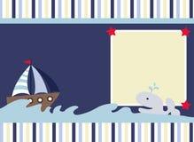 powitania karciany morze ilustracja wektor