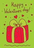 powitania karciany valentine s Obraz Stock