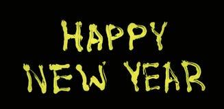 Powitania literowanie dla nowego roku zdjęcie stock