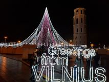 Powitania od Vilnius zdjęcia stock