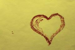 powitania piękny karciany serce Zdjęcie Royalty Free