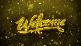 Powitanie Życzy powitanie kartę, zaproszenie, świętowanie fajerwerk ilustracja wektor