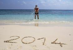Powitanie 2014 Obraz Royalty Free