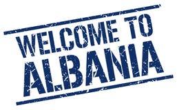 Powitanie Albania znaczek Zdjęcia Royalty Free