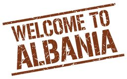 Powitanie Albania znaczek Obraz Royalty Free