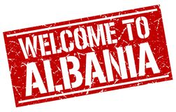 Powitanie Albania znaczek Fotografia Stock