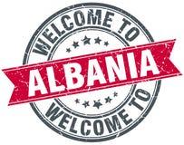 Powitanie Albania znaczek Obrazy Royalty Free