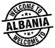 Powitanie Albania znaczek Zdjęcie Royalty Free