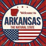 Powitanie Arkansas rocznika grunge plakat royalty ilustracja