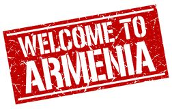 powitanie Armenia znaczek Zdjęcia Royalty Free
