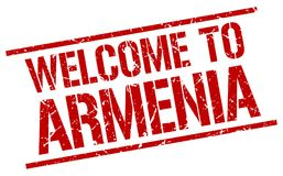 powitanie Armenia znaczek ilustracja wektor