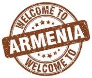 powitanie Armenia znaczek ilustracji