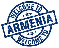 powitanie Armenia znaczek royalty ilustracja