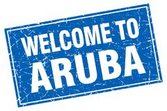 Powitanie Aruba znaczek ilustracja wektor