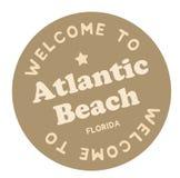 Powitanie Atlantyk plaża Floryda royalty ilustracja