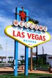 Powitanie Bajecznie Las Vegas znak Obrazy Stock