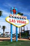 Powitanie Bajecznie Las Vegas znak Obraz Stock