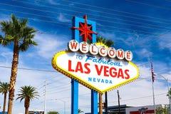 Powitanie Bajecznie Las Vegas znak Fotografia Stock