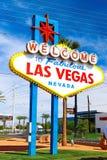 Powitanie Bajecznie Las Vegas znak Zdjęcia Royalty Free