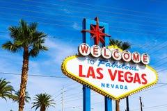 Powitanie Bajecznie Las Vegas znak Zdjęcie Royalty Free