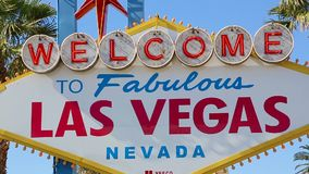 Powitanie Bajecznie Las Vegas znaka zoom zbiory