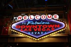 Powitanie Bajecznie W centrum Las Vegas znak Zdjęcia Royalty Free