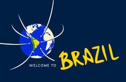 Powitanie Brazylia Obrazy Stock