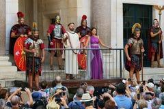 Powitanie cesarz Diocletian, rozłam, Chorwacja Zdjęcie Royalty Free