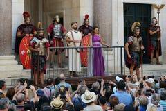 Powitanie cesarz Diocletian, rozłam, Chorwacja Zdjęcie Stock