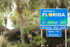 Powitanie Floryda - Sunshine State zdjęcia royalty free