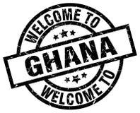 Powitanie Ghana znaczek ilustracja wektor