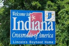 Powitanie Indiana znak zdjęcie stock