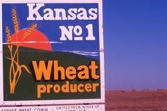 Powitanie Kansas Znak Fotografia Stock